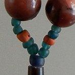 Burmese carnelian/glass necklace