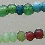 vaseline & glass bead strand