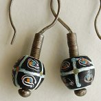 antique Venetian trade beads earrings