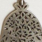 antique hamsa pendant necklace