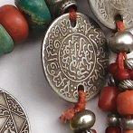 Moroccan necklace amazonite coral