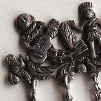 Bolivian silver shawl pin antique